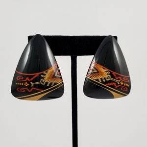 TRUE VINTAGE Boho Tribal Statement Earrings